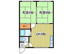 元町ホワイトハイツ[1階]の間取り