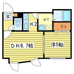セントニア37[3階]の間取り