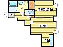コンフォート新道東弐番館[101号室]の間取り