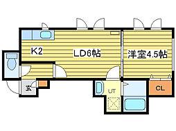 セラフィム[2階]の間取り
