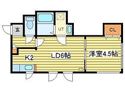 セラフィム[3階]の間取り