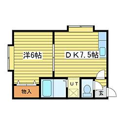 ファミリーマンション24[2階]の間取り