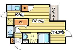 マイクレストN21[1階]の間取り