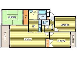 ベルマージュ522[4階]の間取り