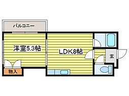 ロイヤルハイツ杉田[4階]の間取り