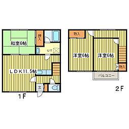 [テラスハウス] 北海道札幌市東区北十二条東14丁目 の賃貸【北海道 / 札幌市東区】の間取り