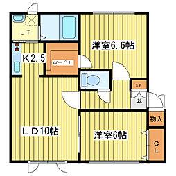 サンセール21[1階]の間取り