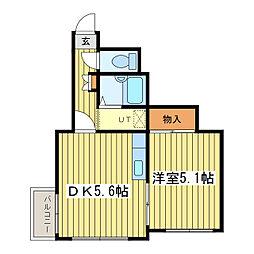 オムニコート[3階]の間取り