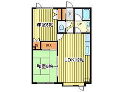 パシフィック32[2階]の間取り