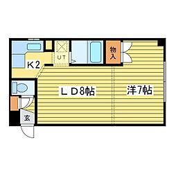 コーポMK89[2階]の間取り