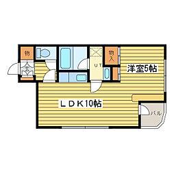 ローヤルハイツ美香保[8階]の間取り