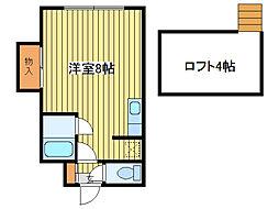 ロイヤルコート元町[1階]の間取り