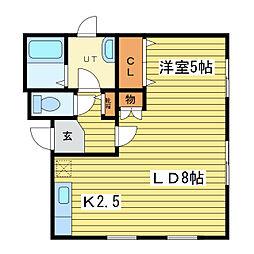 CASA 北16条[1階]の間取り