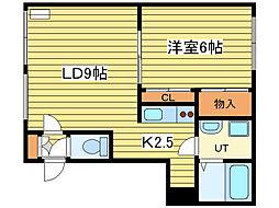カーサN10[2階]の間取り