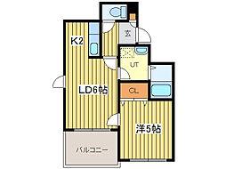 Kahala Court 2nd[5階]の間取り
