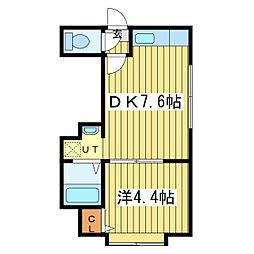 グランシュール32[3階]の間取り