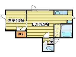 テムデック37[1階]の間取り