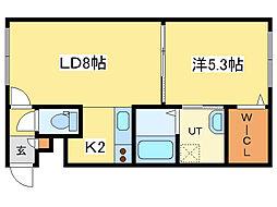 グランメール元町[3階]の間取り