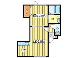 ファミリーマンション39[2階]の間取り