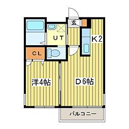 VILLAGE北大通壱番館[4階]の間取り