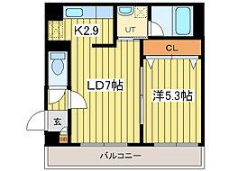第6ふじビル[2階]の間取り
