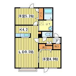 元町グランビレッジC棟[2階]の間取り