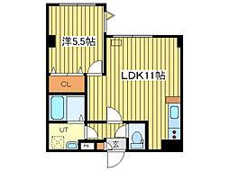 北海道札幌市豊平区平岸三条16丁目の賃貸マンションの間取り