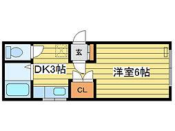 ラフォーレ19・2号館[3階]の間取り