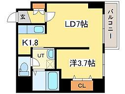 レジデンスタワー札幌[2階]の間取り