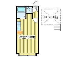 メゾンドリラ[2階]の間取り