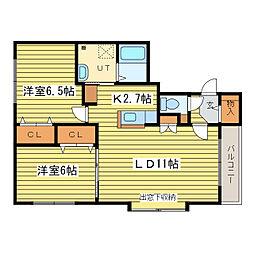 ドリーム35II[4階]の間取り