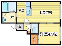 パークリュクスN18 ロイヤルヴィラ[2階]の間取り