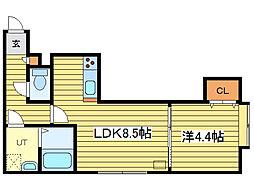 アークコート栄通17丁目[3階]の間取り