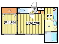 アークガーデン平岸II[2階]の間取り