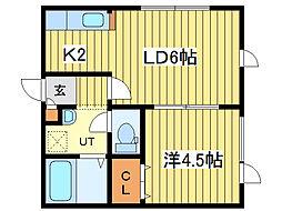 ライフゾーンN47[3階]の間取り