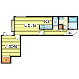 ケントハウスIII[2階]の間取り