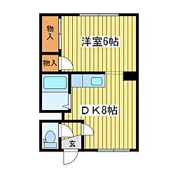ノーブルハウス[1階]の間取り
