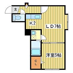 アバンティII[2階]の間取り
