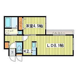 N-MODE・N23[1階]の間取り