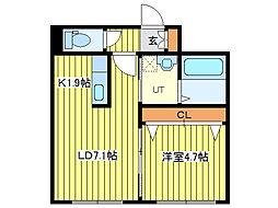 ガレ・ド・ロータス[1階]の間取り