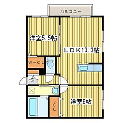 Spirito N16[3階]の間取り