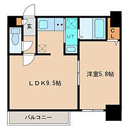 札幌市営東豊線 元町駅 徒歩5分の賃貸マンション 3階1LDKの間取り
