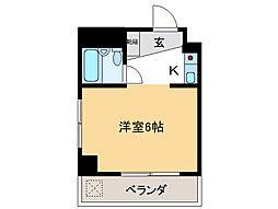 アンシャンテモリモトII[4階]の間取り