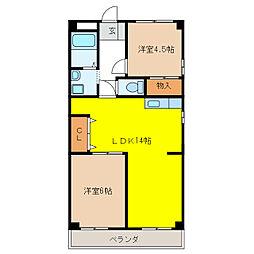 ハウス610[4階]の間取り