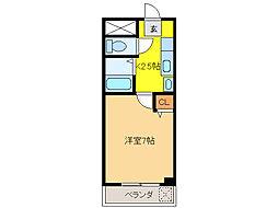 グラナイト尼ケ崎[4階]の間取り