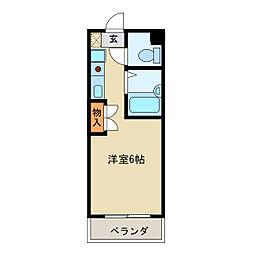 ブラウン・アベニュー・カメタ[4階]の間取り