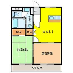 イーストピア笠松[2階]の間取り