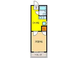 プチコーポ花沢[2階]の間取り