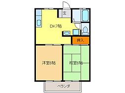 シェ・ヌー戸崎[2階]の間取り