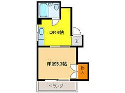 サンコーポNo.5[2階]の間取り